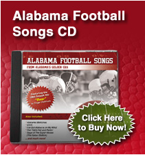 Alabama Football Songs CD